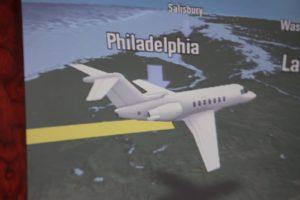 Flying over Philadelphia