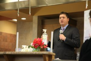I was introduced to the crowd by Giant Eagle executive Rob Borella.