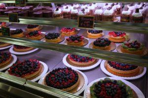 Beautiful tarts in the bakery