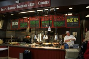 Giant Eagle offers a large array of freshly prepared foods, including Asian food cart fare, with Gary at the ready.