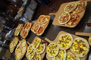 With many varieties of pizza