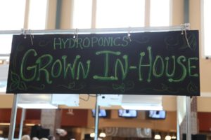 Giant Eagle even has a hydroponic table.