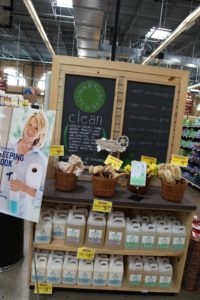 A display with Martha Stewart Clean products