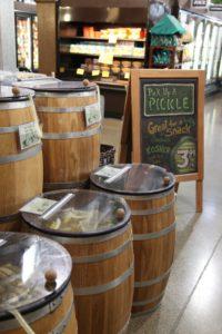 Real pickle barrels!