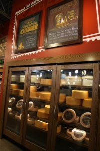 A cheese aging case