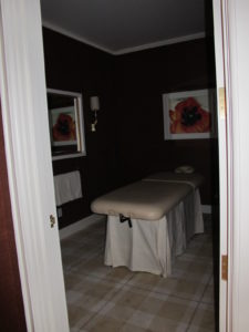 There was even a private massage room.