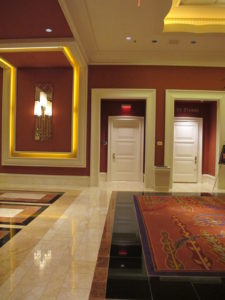 A hallway leading to ballrooms and convention area