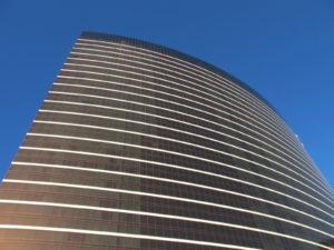 The sleek and modern exterior of Wynn Las Vegas