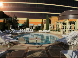 A pool at Tower Suites