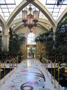 This is the Atrium of the Tower Suites entrance at Wynn Las Vegas.