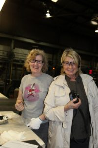 Here I am with Susan, who inspects the finished product.
