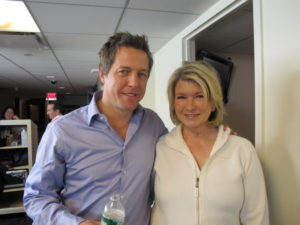 Back stage with Hugh Grant!