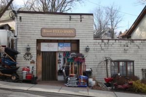This is the exterior of Bennie's Feed Barn.