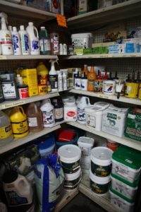 Inside, the shelves are loaded with all kinds of animal care products.