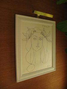 The suites are adorned with replicas of pieces from Steve Wynn's acclaimed art collection - A Picasso.