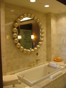 The bathrooms are very lavish.