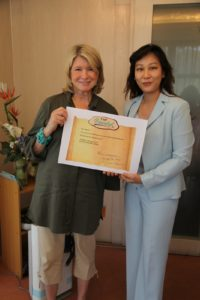 The manager of the Cafe Botanikal, Christie Siow, presented me with a welcoming plaque.