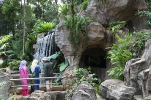 Artificial waterfalls and landscape follies adorn the new park.