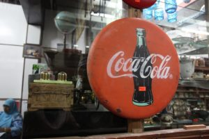 So did this early coca cola sign.
