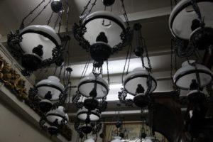And the Victorian chandeliers