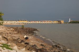 The future of the seaside of Melaka is undecided.  This building was going to be a hotel, but it remains unfinished, as far as we know.