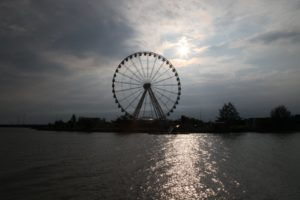 Melaka has a giant ferris wheel, which is currently non-operative.