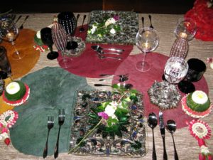 The table was colorful, vibrant, and very lavish.