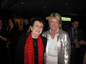 Billie Jean King - the great tennis player