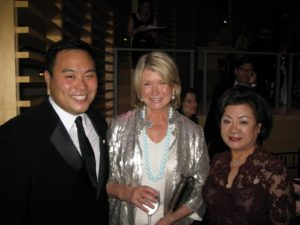 Chef David Chang and his mother