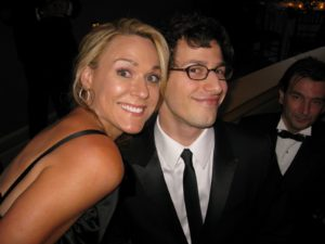 Jen Snell and Andy Samberg