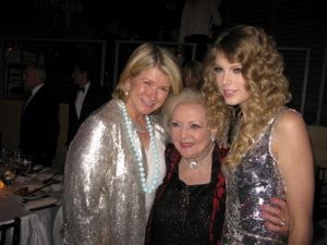 Here I am with Betty White and Taylor Swift.
