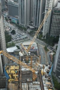 There is a lot of construction being done all around Kuala Lumpur.