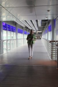 Here I am, stepping out on the  skybridge.