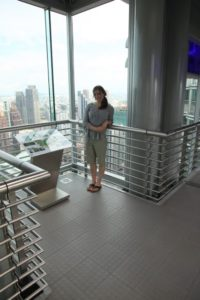 Sophie on the skybridge
