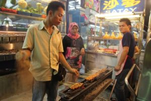 After tasting many dishes, we wandered around - here is where that great satay came from.