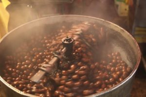 The fragrance of roasting chestnuts filled the air.