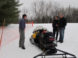 Rob explained a lot about snow mobiles, trail grooming, and the sport of cross country skiing.