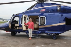 We set off aboard this handsome helicopter, which belongs to the Ritz Carlton Kuala Lumpur.