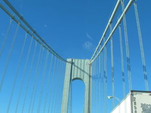 This majestic suspension bridge stands 693 feet above the high water mark.