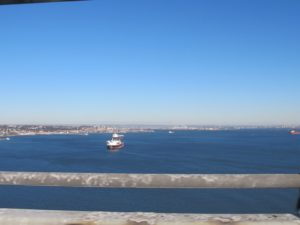 Crossing the bridge from Bay Ridge, Brooklyn