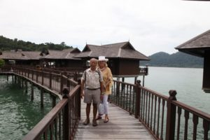 Memrie with Mr. Yip Yoon Wah, the resort's resident naturalist.