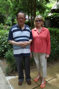 Here I am with Soo Min's father, Mr. Tan Sri Yeoh Tiong Lay.  He owns Pangkor Laut as well as the Ritz Carlton Kuala Lumpur.