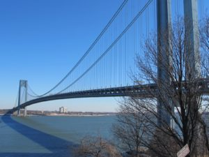 The span of the bridge is very graceful - the New York City Marathon begins here.