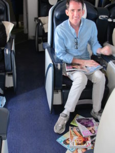 Kevin used the long flight - direct to Johannesburg - to read all of his favorite magazines and cull 'idea' pages from them.  He brings about twenty magazines ranging from fashion, design, decorating, and style titles.