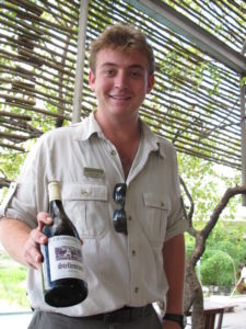 Our sommelier, Chris Ford, was very astute in his knowledge of South African wines.