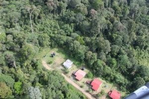 This is part of the Danum Valley research center.  It is the only establishment, along with our lodge, for many miles.
