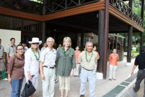 We were greeted at the Rainforest Lodge by Noredah Othman - Director of Marketing for Sabah Tourism Board and George Hong - General Manager of Borneo Rainforest Lodge.  On the far right is Tengku Adlin - Chairman of Sabah Tourism and the President of the Malaysia Wildlife Fund.