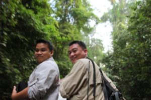 We drove a few minutes to the canopy walk.  Here are our two guides, Denny and Edmundo.