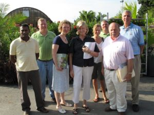 Posing with some of the staff of Angel Plants - Ravindra, Bill, Tracy, me, Andrea, Bob, Russell, and Chuck
