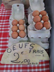 Farm fresh eggs sold by the half dozen